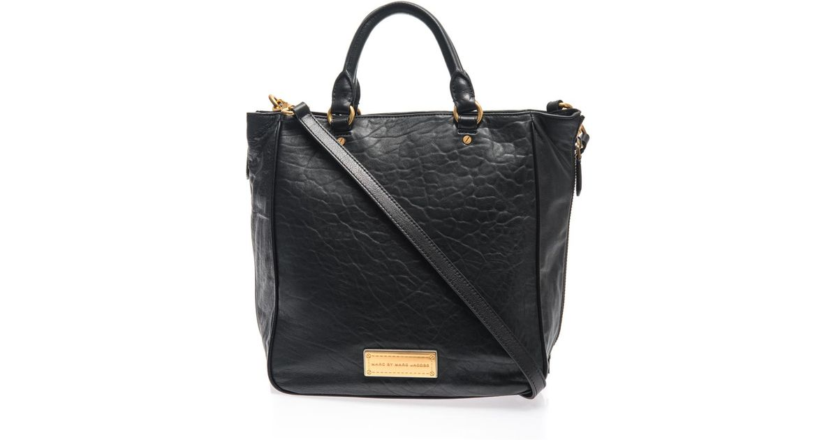 9ad03fbf703 Lyst - Marc By Marc Jacobs Washed Up Leather Tote in Black