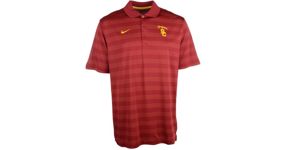 cheap for discount 082a1 f2340 Nike Red Men'S Usc Trojans Dri-Fit Preseason Polo Shirt for men
