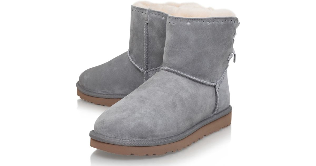 e85859ac30e UGG Gray Dixie Floral Ankle Boots