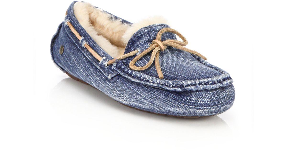 a836a3ae5ff UGG Blue Dakota Denim Sandblast Slippers