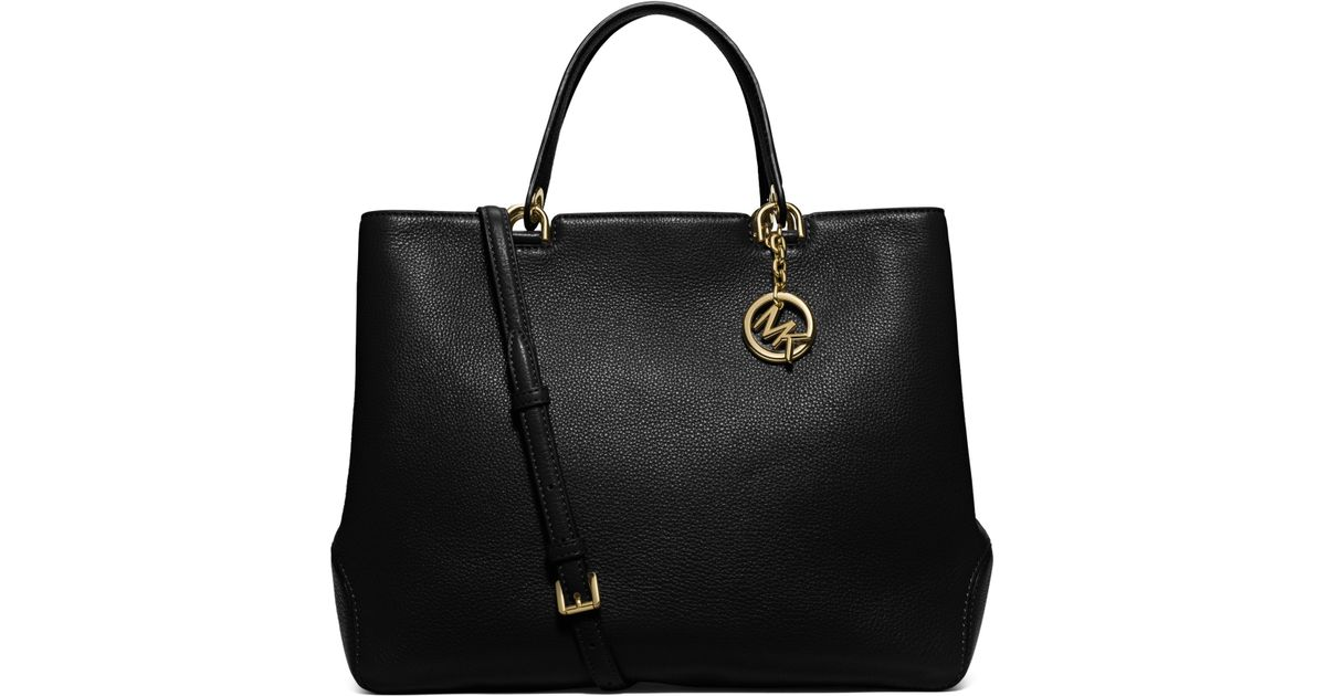 8946d420ba3217 Michael Kors Anabelle Extra-large Leather Tote in Black - Lyst