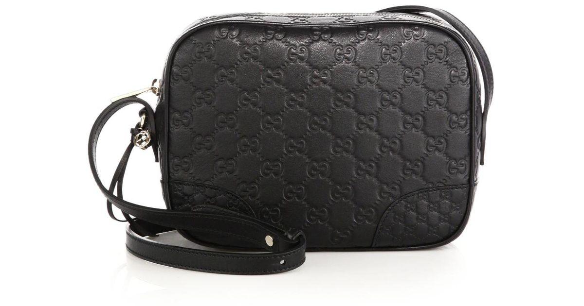9ef266705195 Gucci Bree Ssima Mini Leather Disco Bag in Black - Lyst
