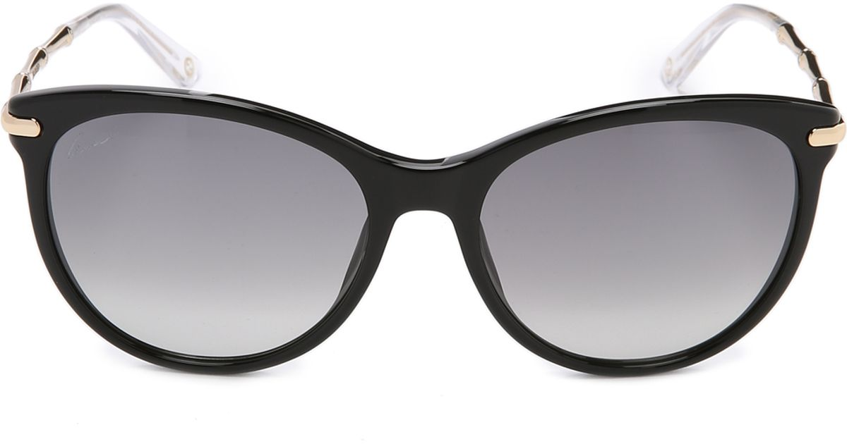 958210a3149 Lyst - Gucci Bamboo Temple Sunglasses in Black