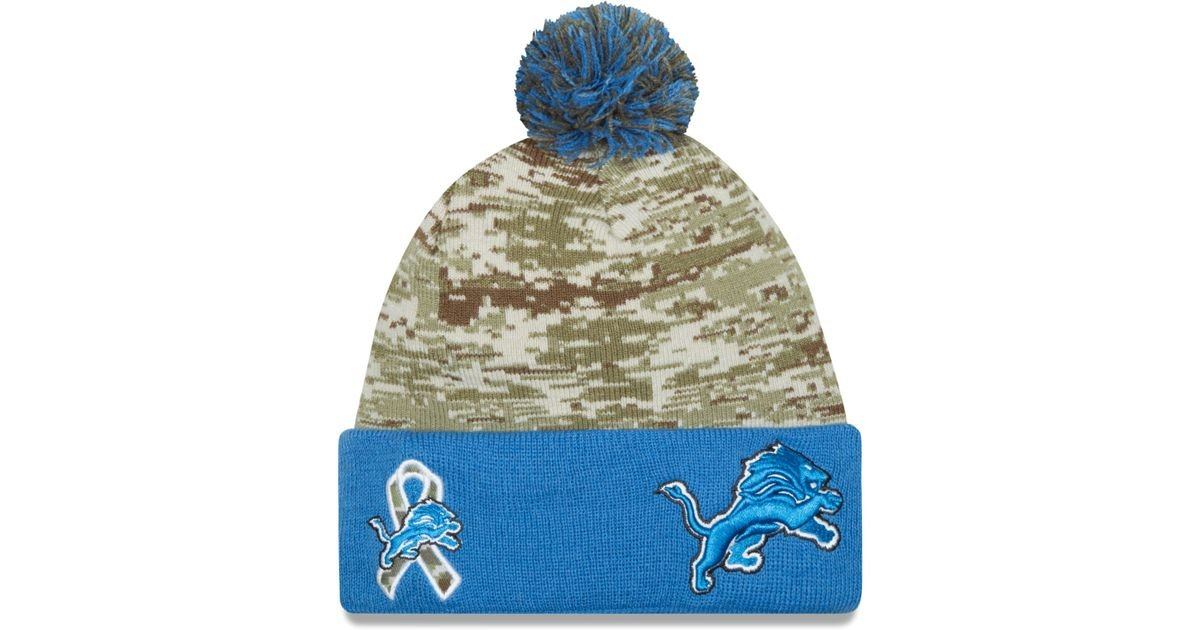Lyst - KTZ Detroit Lions Salute To Service Knit Hat in Green af50cad53
