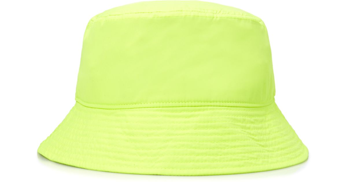 forever 21 classic bucket hat in yellow for men lyst