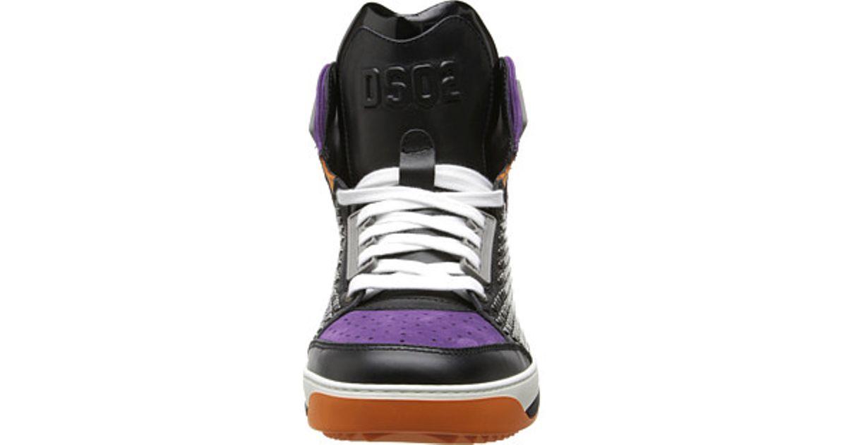Lyst - DSquared² Satellite High Top Sneaker in Purple for Men d0b35bea4