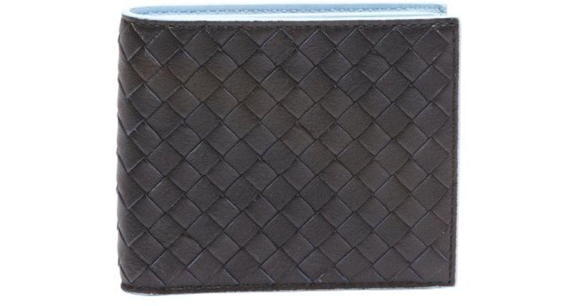 Bottega Veneta Square Intrecciato Leather Wallet