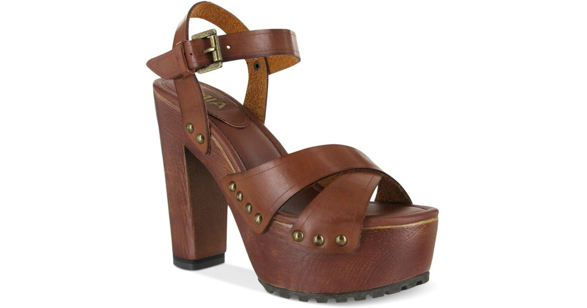 Wooden Mia Clog Sandals Elly Brown Platform fy6gvIY7b