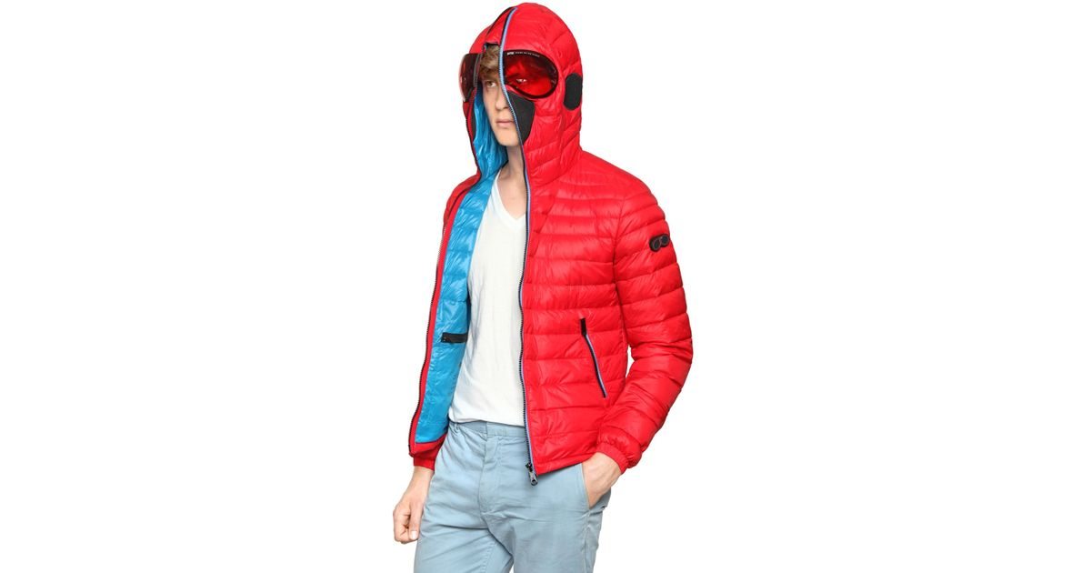 1f271d98e Ai Riders On The Storm Red Total Zip Up Light Weight Down Jacket for men