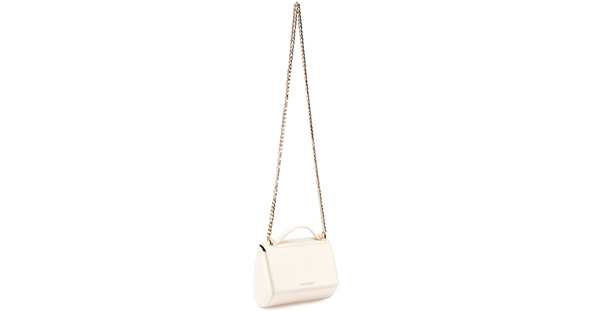 Givenchy Pandora Box Mini Chain Shoulder Bag in White (IVORY)  9c0d649b636a9