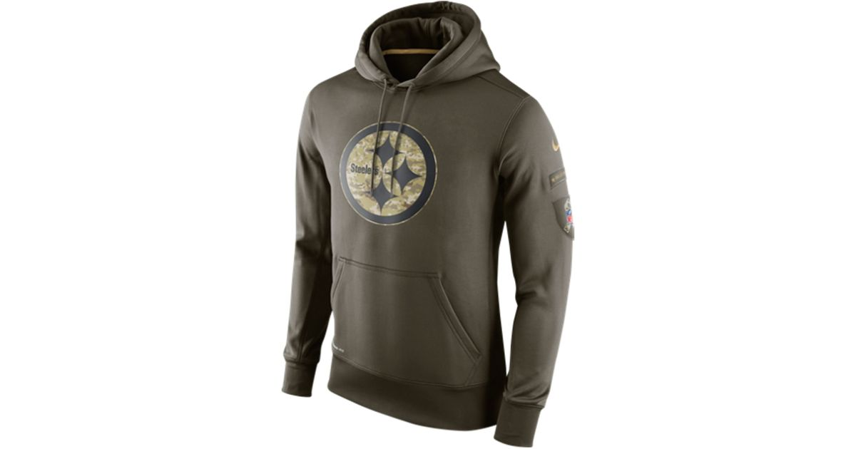 premium selection 29b4a 461f1 Nike Green Men's Pittsburgh Steelers Salute To Service Ko Hoodie for men