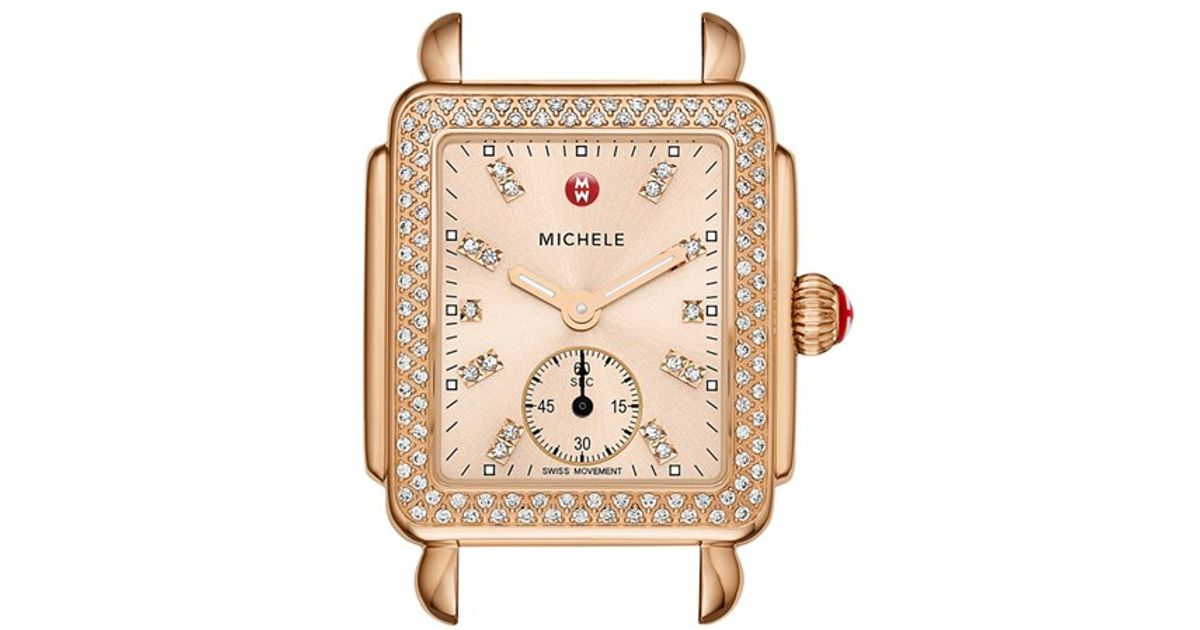 Michele Rose Gold Diamond Watch