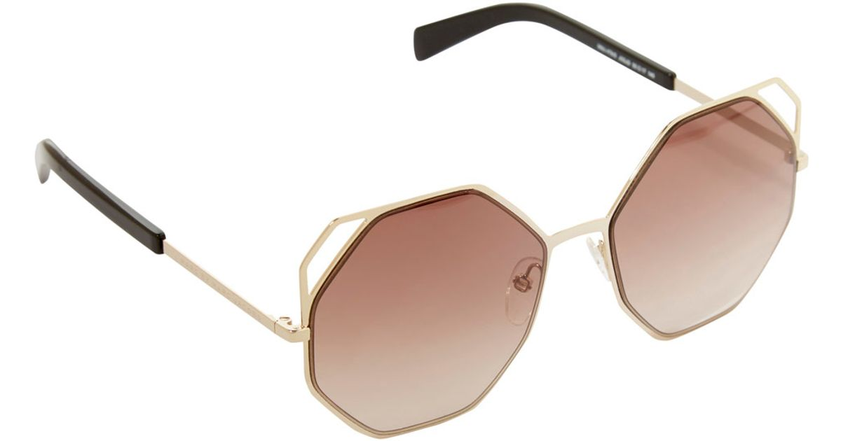 Marc Jacobs Gold Frame Sunglasses : Marc by marc jacobs Gold-tone Octagon Metal Frame ...