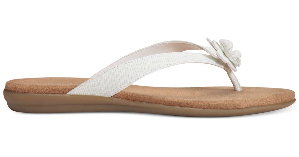 a141dafe9c3a Lyst - Aerosoles Branchlet Flip Flop Sandals in White