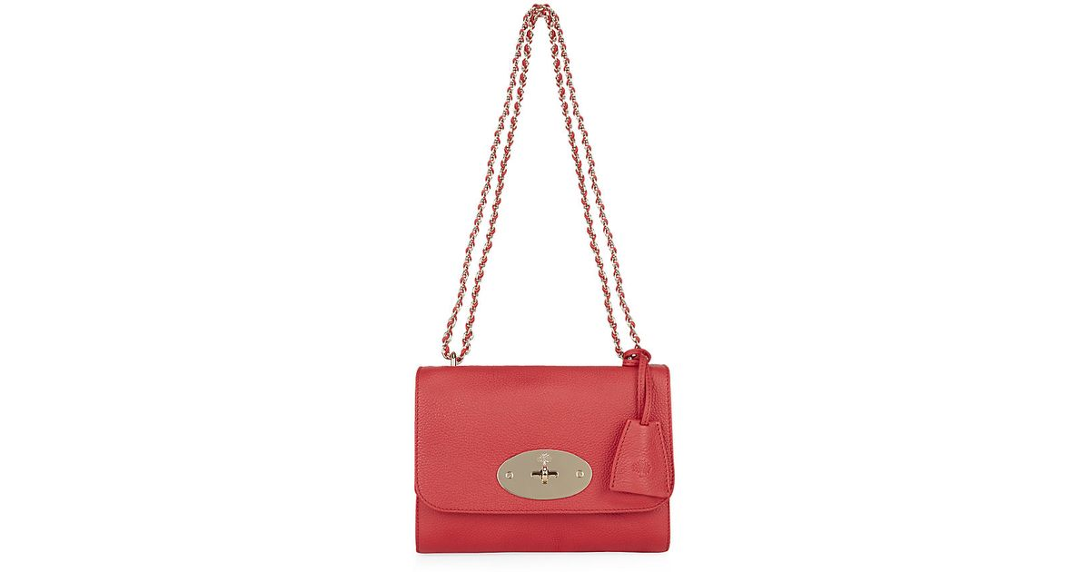 d48ce53644e Mulberry Small Lily Classic Grain Bag in Pink - Lyst