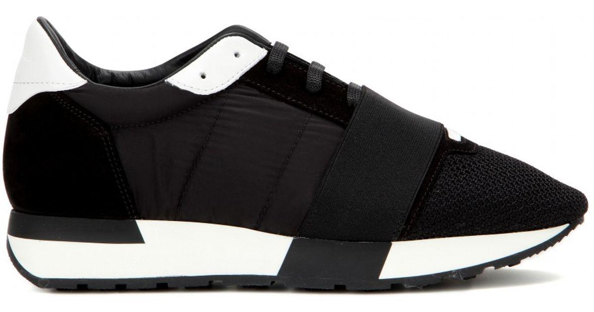 fa7b9c4dd4d63 Balenciaga Men s Arena Leather Suede Sneakers