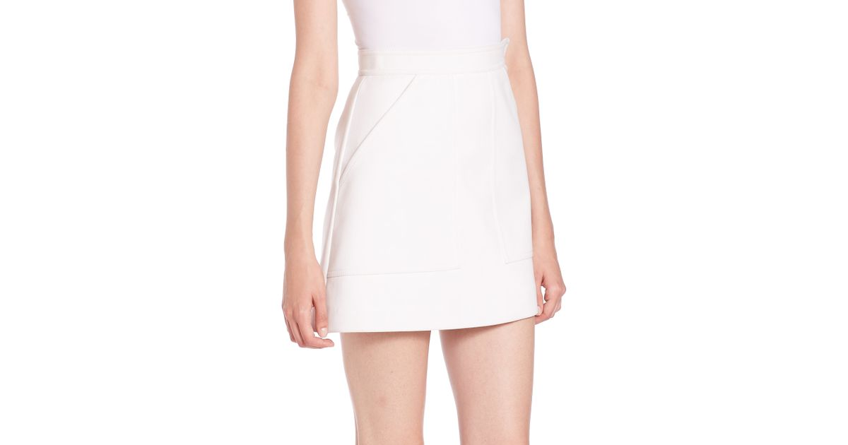 msgm a line skirt in white lyst