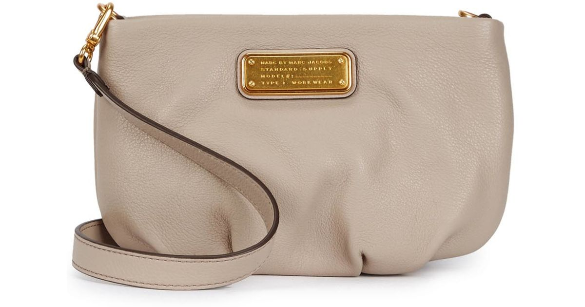 0a35ffec36c61 Marc By Marc Jacobs New Q Percy Sand Leather Cross-body Bag in Natural -  Lyst