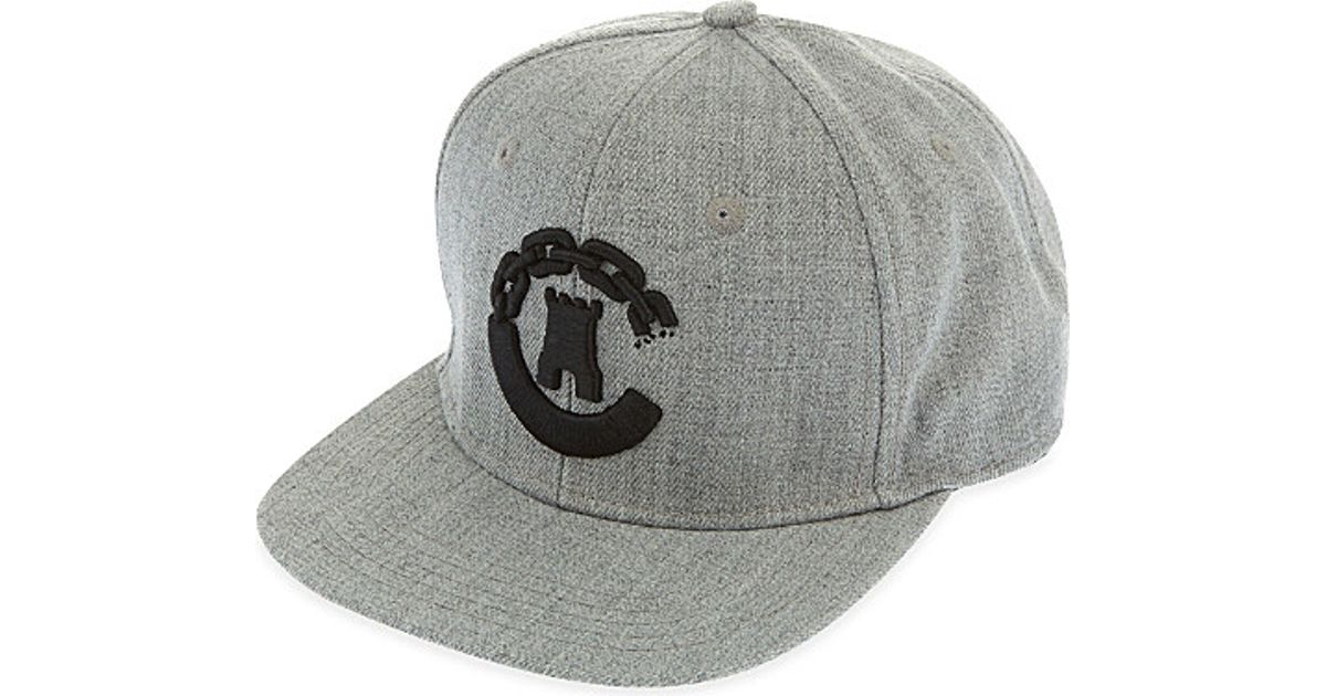 c1da95684b46 Lyst - Crooks and Castles Castle Chain Snapback Cap in Gray for Men