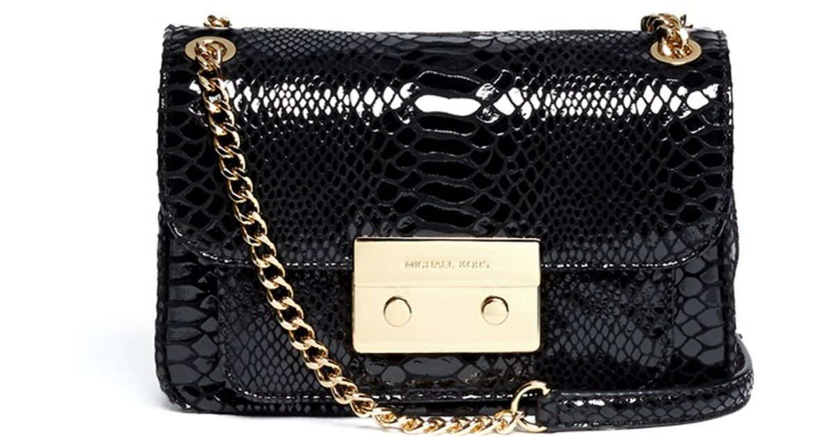 c51511f9d64b ... coupon for michael kors miranda flap crossbody in black lyst 264c2 fa7d4