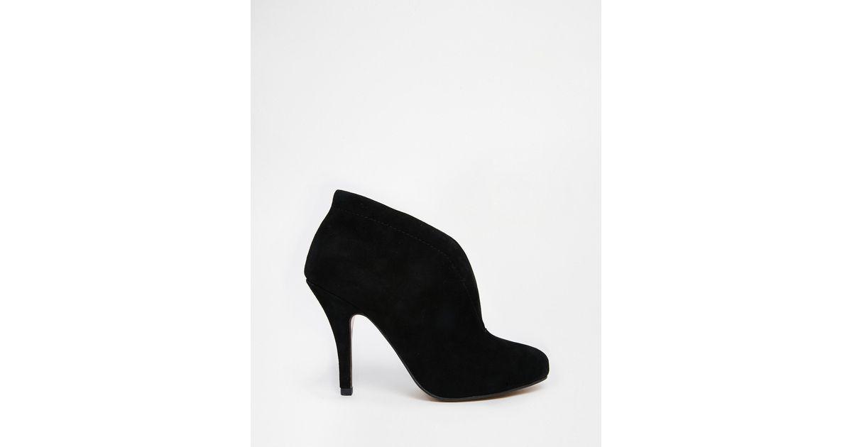 3a72af3c8dff ALDO Asicilia Black Suede Heeled Shoe Boots in Black - Lyst