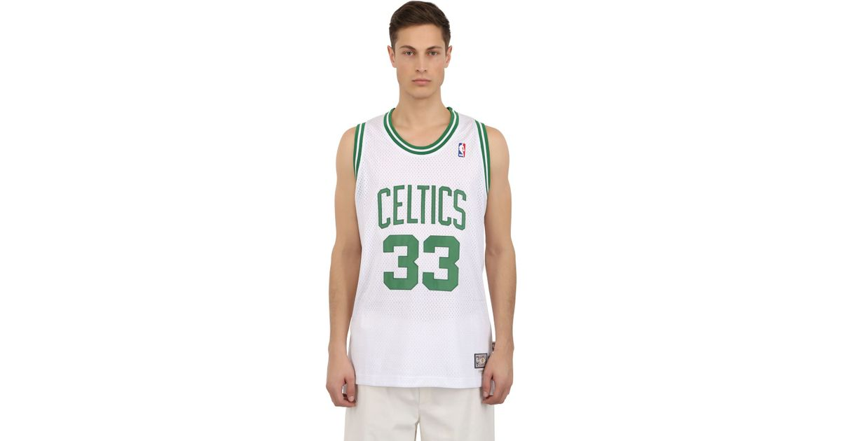 adidas Larry Bird Boston Celtics Nba Jersey in White - Lyst