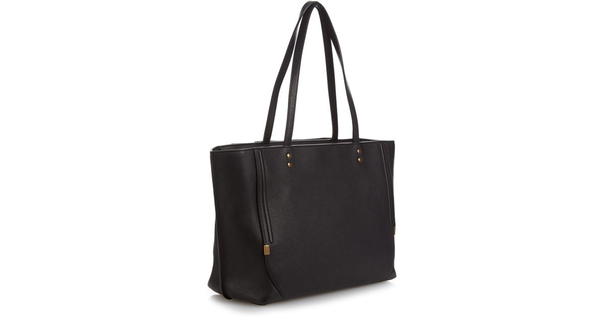 34fd9a1f1ca Chloé Isa Grained-leather Tote in Black - Lyst