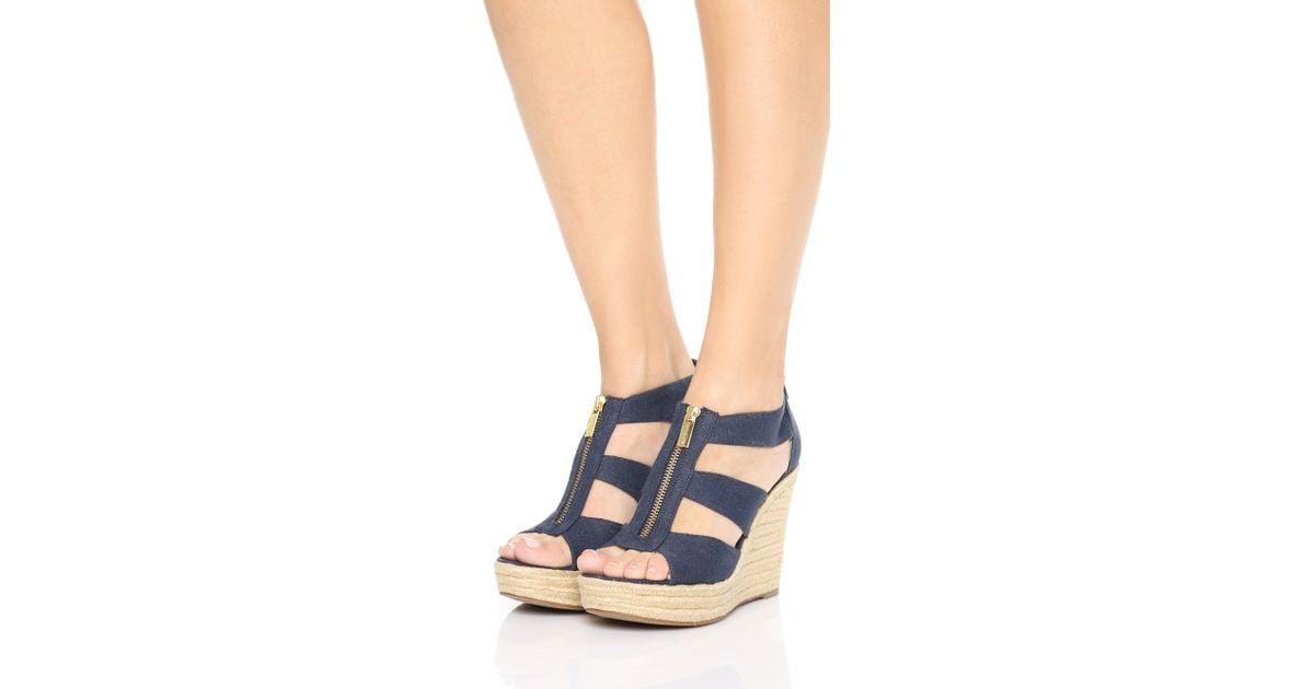 Sandals Michael Damita Blue Wedge Kors XOkuTPZi