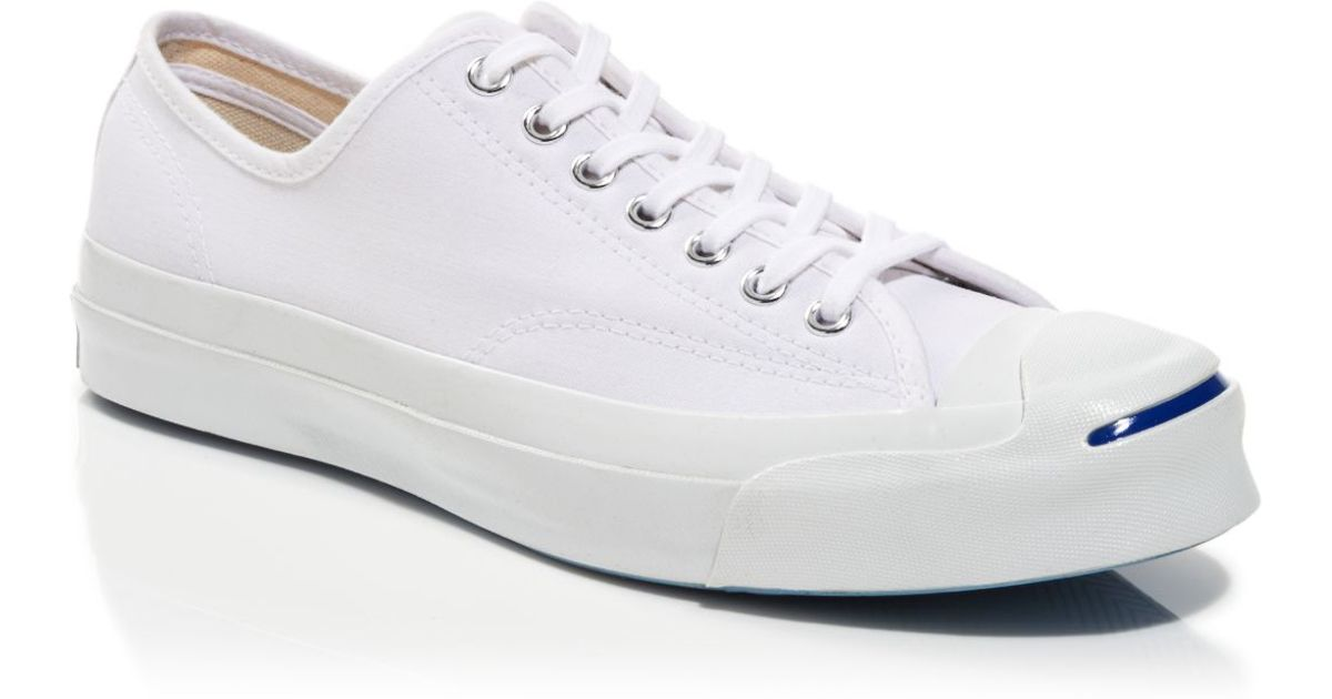 Lyst - Converse Jack Purcell Signature Canvas Sneakers in White for Men 39bd52b2ea0b