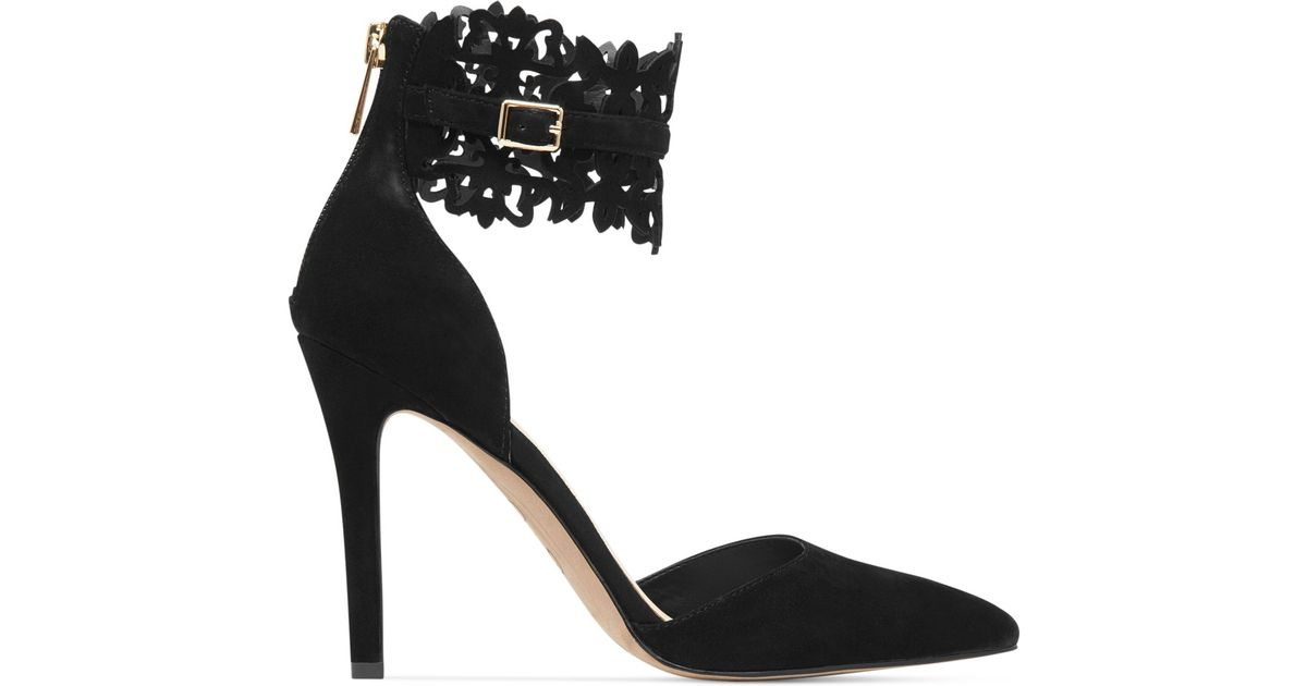 jessica simpson black lace heels
