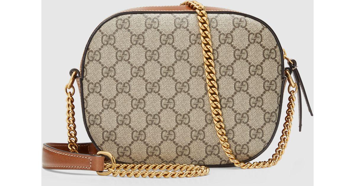 ac6da45a07 Gucci Brown Gg Supreme Mini Chain Bag