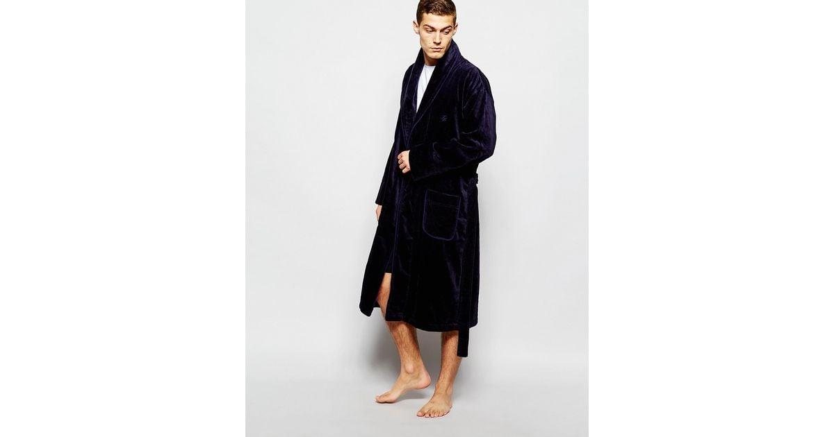 Lyst - Ted Baker Dressing Gown Robe in Blue for Men