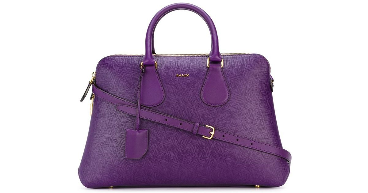 Lyst - Bally Medium  berkeley  Tote in Purple 430143f4e20ae