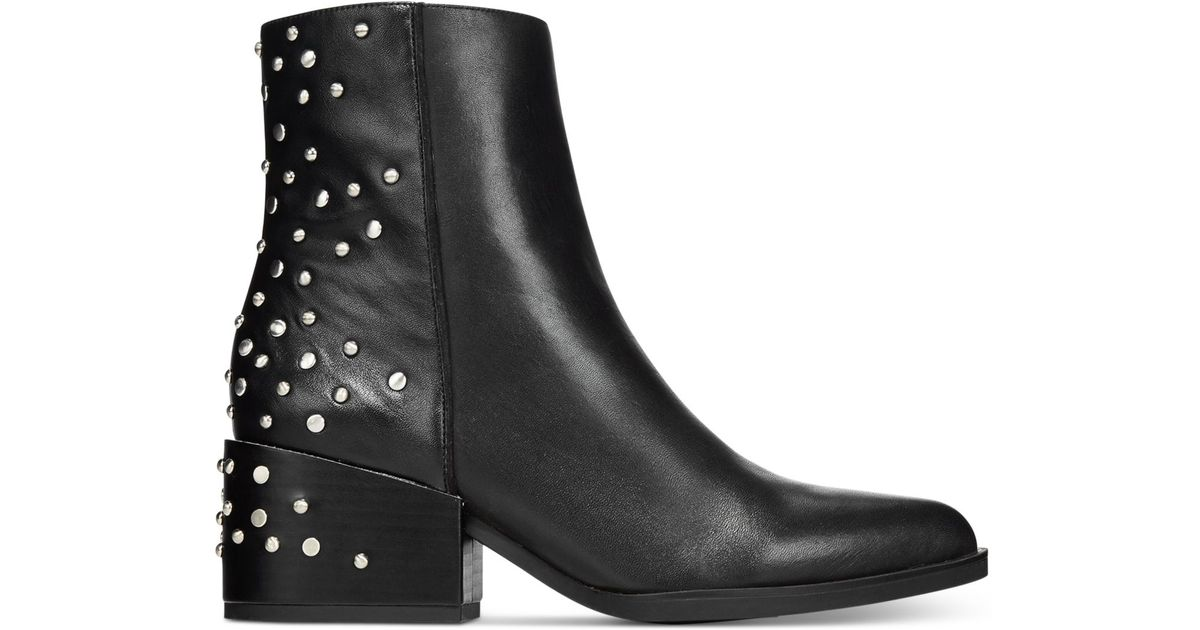 f58b856a05c470 Lyst - Circus by Sam Edelman Rae Studded Booties in Black