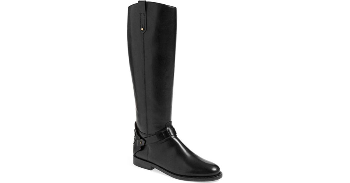 1b22cacb40d83 ... denmark lyst tory burch derby leather riding boots in black d9d69 49eaf