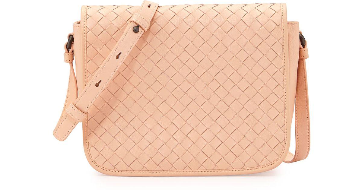 145a6323d25fe Bottega Veneta Woven-Flap Cross-Body Bag in Metallic - Lyst