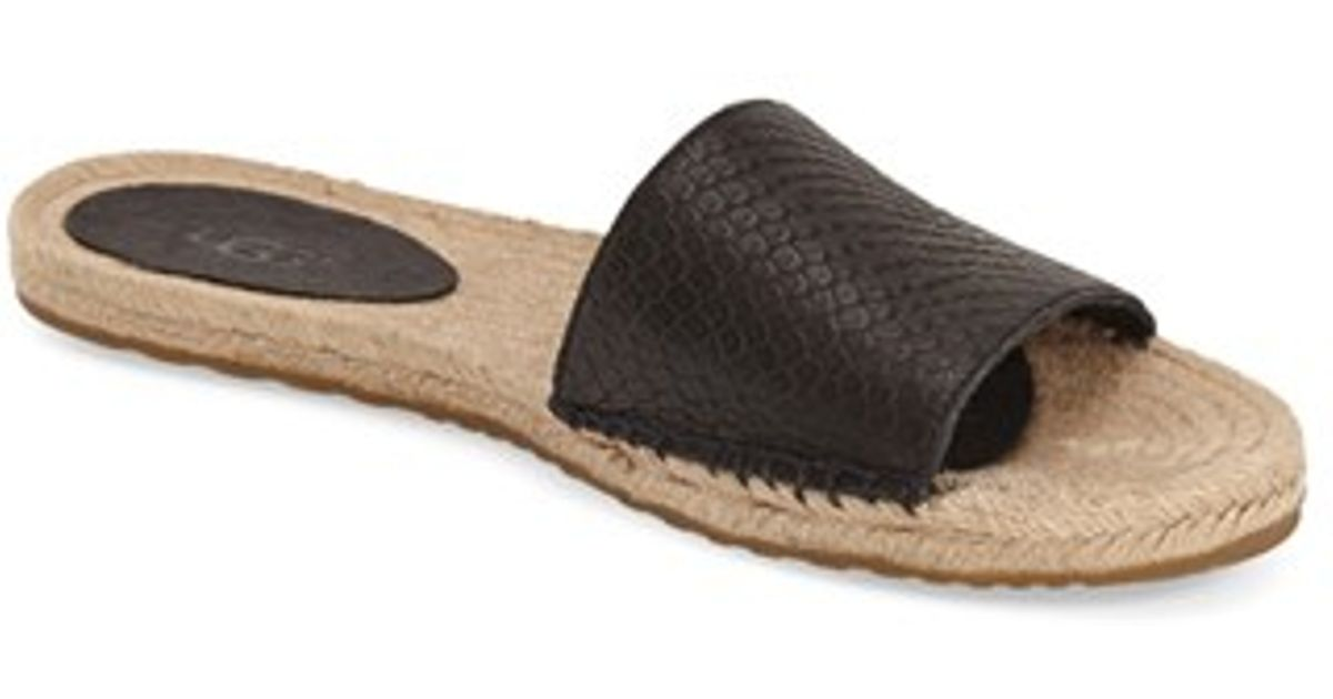 03cb30a6867 UGG Black Ugg 'cherry Exotic' Slide Sandal