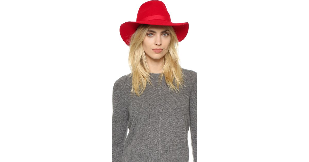 ... sale lyst brixton dalila hat in red d2143 2e962 ... 4cd92fdab5d