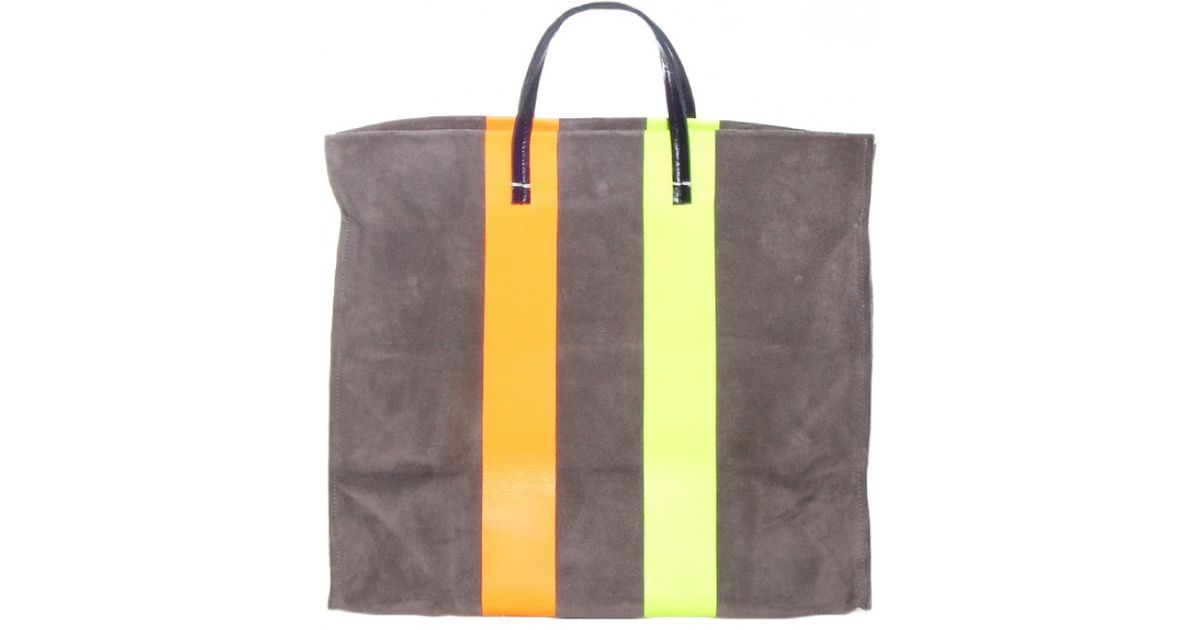 936a6d8c71 Lyst - Clare V. Grey Stripe Simple Tote in Gray