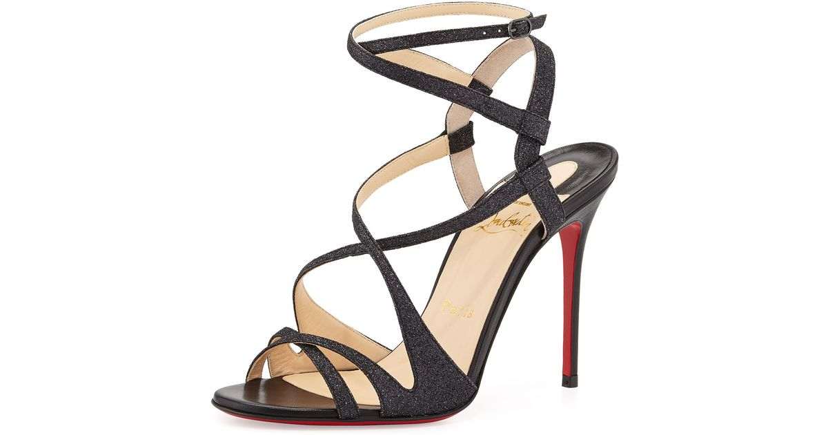 christian louboutin pyrabubble studded red sole sandal