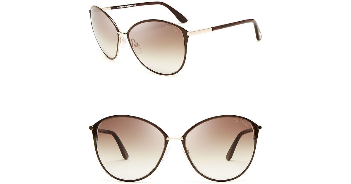 tom ford penelope oversized sunglasses 59mm in brown lyst. Black Bedroom Furniture Sets. Home Design Ideas