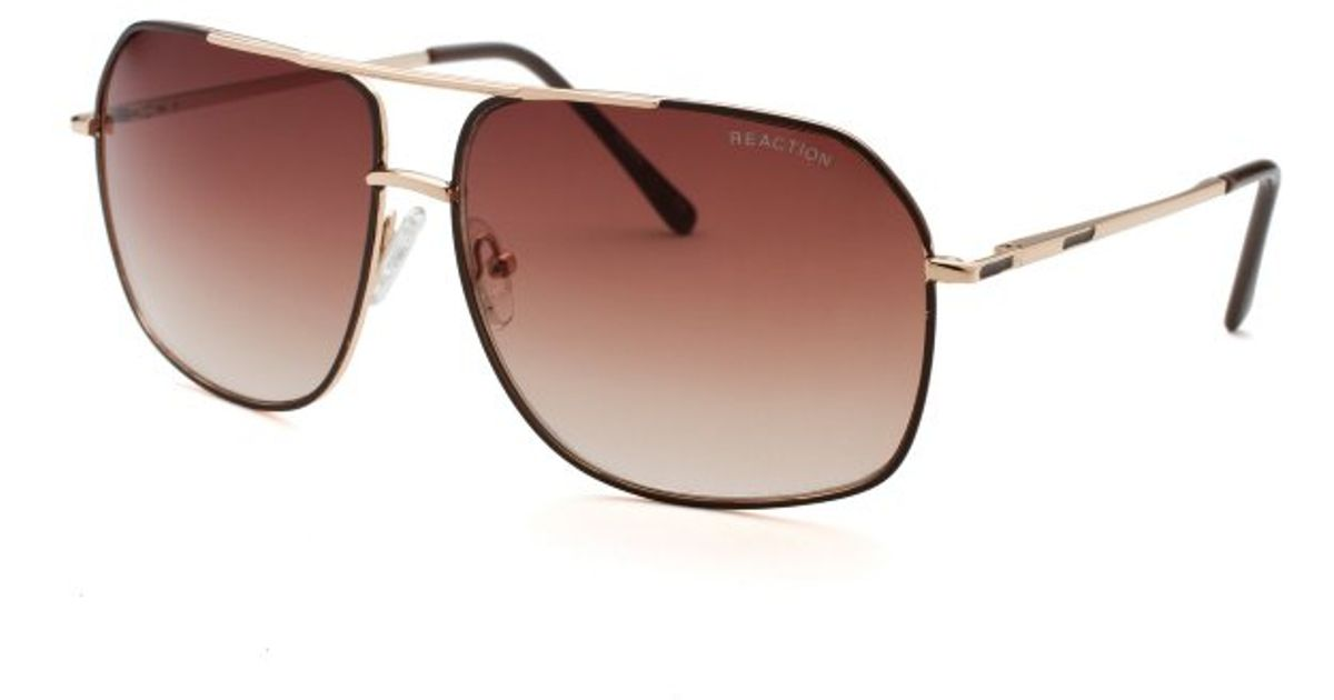 bf867db6bb Lyst - Kenneth Cole Reaction Mens Square Gold Sunglasses in Metallic for Men