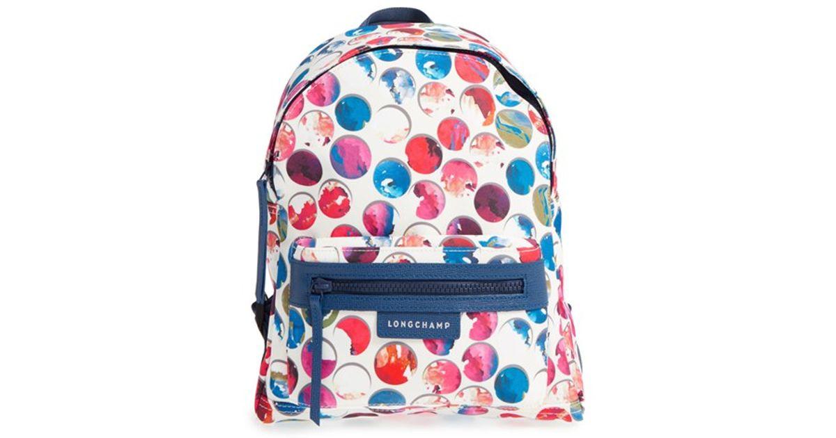 7e2f7646b703e0 Lyst - Longchamp  small Le Pliage - Neo Fantaisie  Canvas Backpack