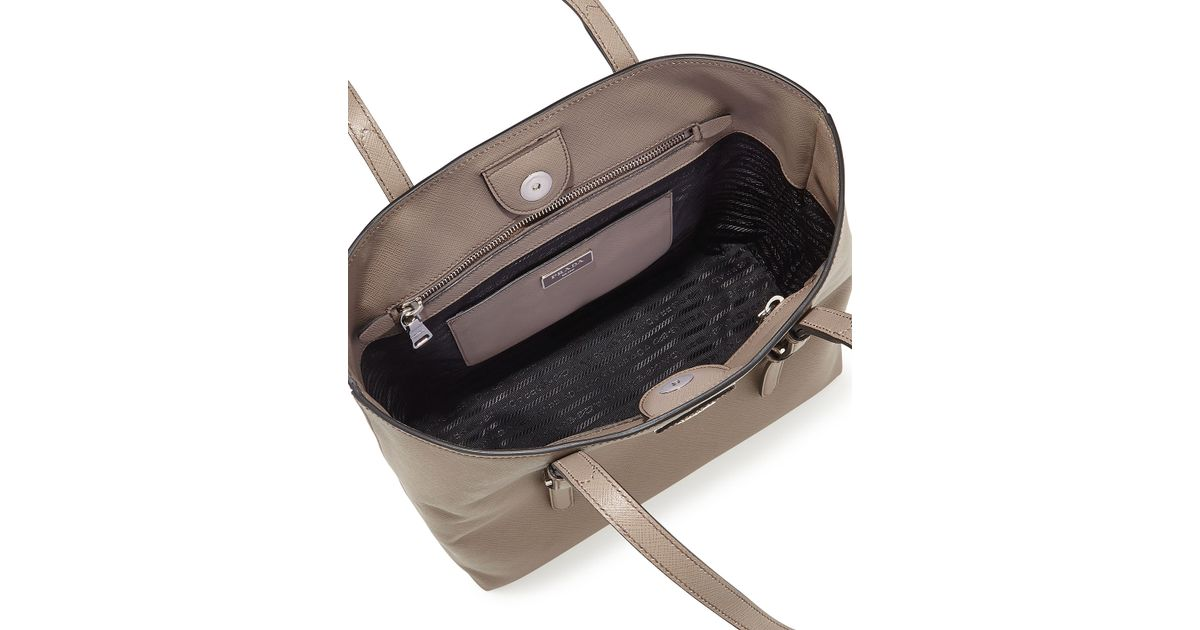 prada totes - prada soft calf reversible tote, purple prada purse