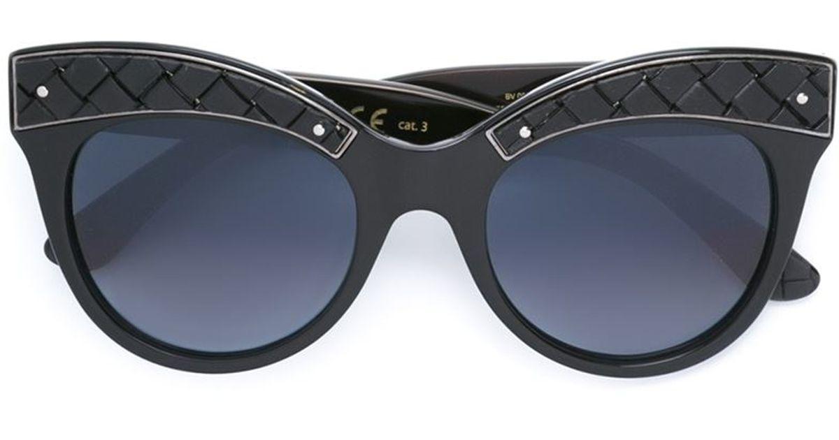 Bottega veneta Oversized Round Frame Sunglasses in Black ...