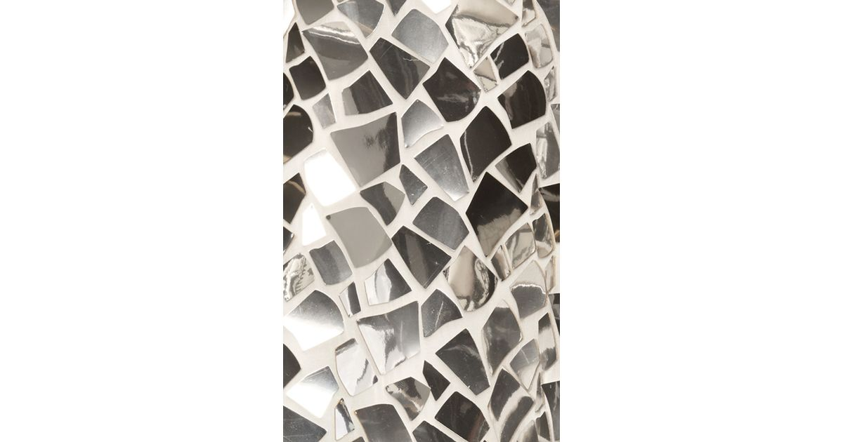 Dolce gabbana mirror mosaic long sleeve dress in for Long silver mirror