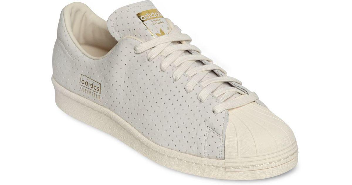 white adidas superstar 80s clean