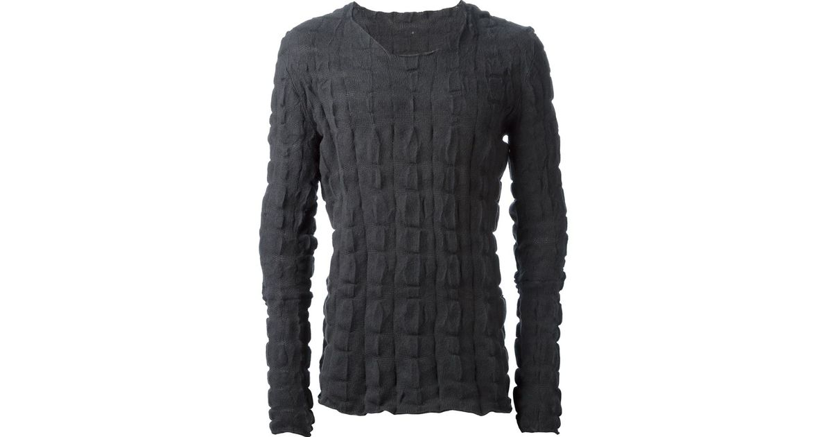 Lyst - Label under construction Grilled Sweater in Gray for Men