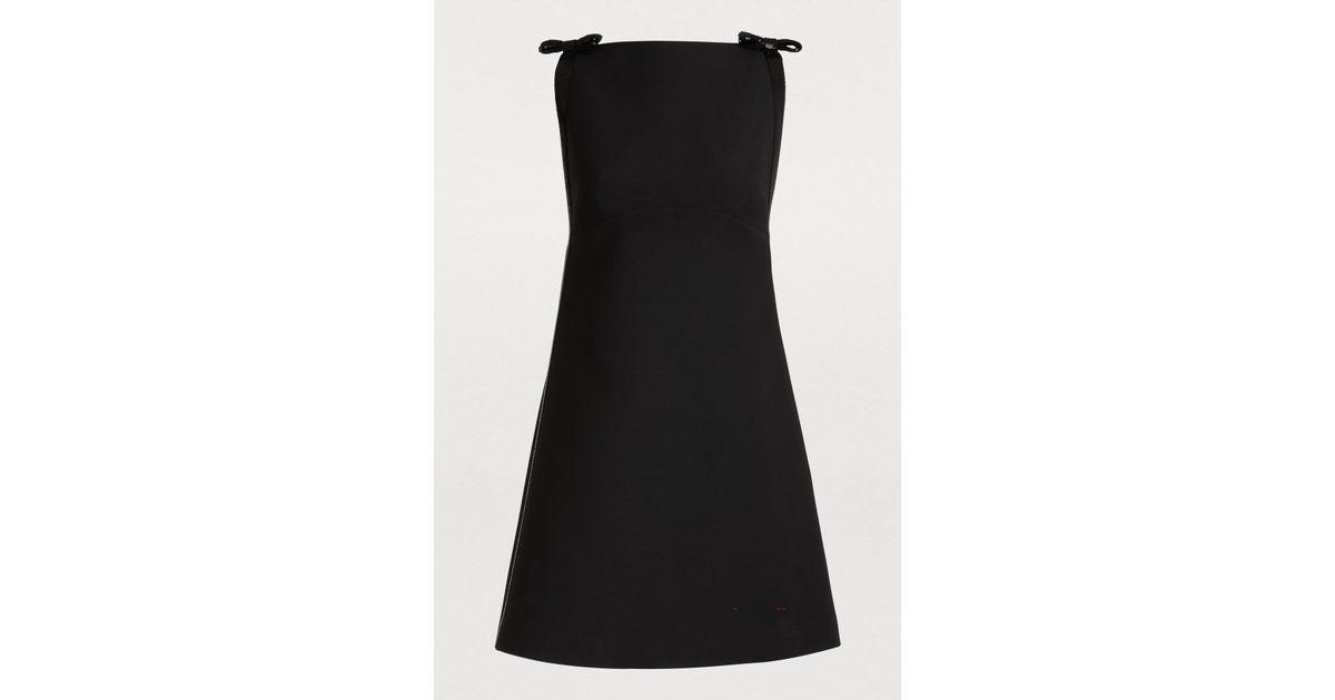 726d521dc27 Lyst - Miu Miu Wool And Silk Mini Dress in Black