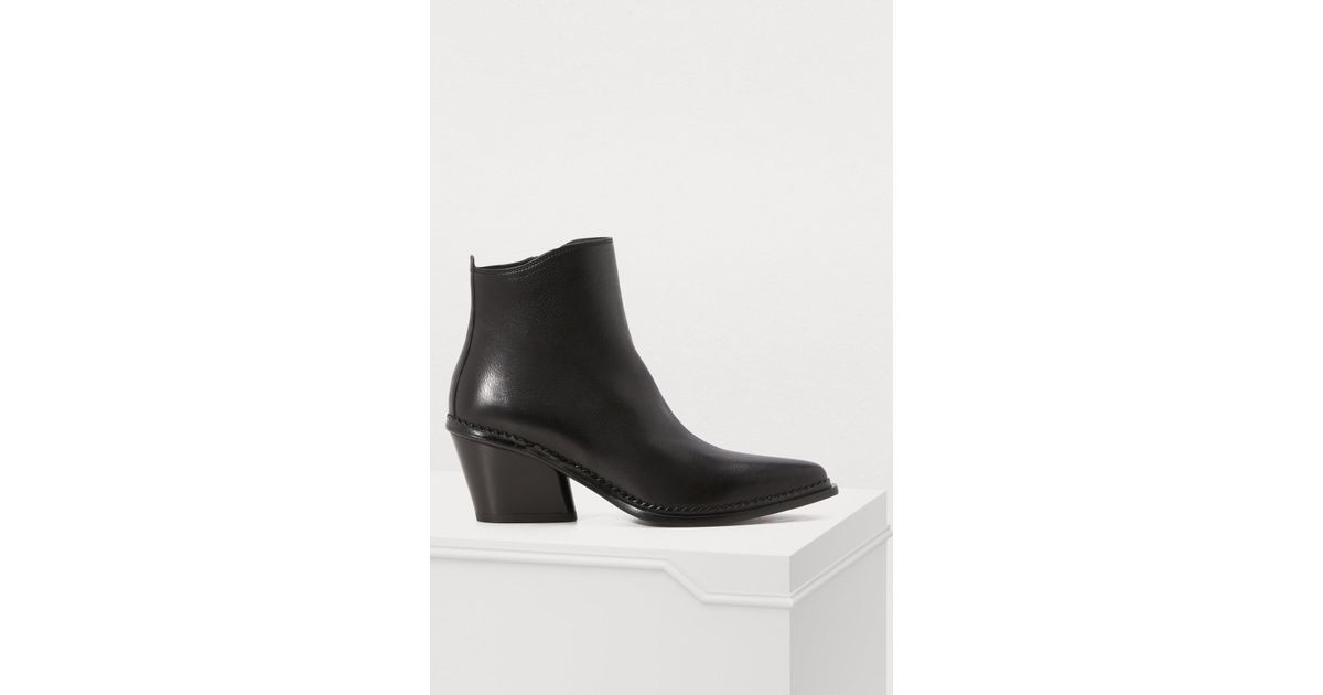 fabf98695003 Lyst - Sartore Frida High-heeled Ankle Boots in Black